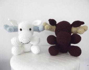 Crochet Moose Pattern Crochet Pattern Moose Stuffed Animal Moose Toy Easy Crochet Pattern Amigurumi Instant Download PDF Baby Toy Moose