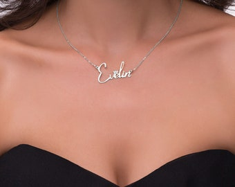 18k Gold plated or Sterling silver Custom Personalized Name necklace crown crystal
