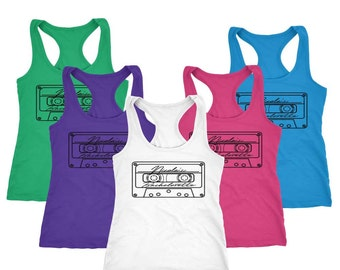 Cassette Shirts - Cassette Tshirts - Bridal Party Shirts - Bridal Party Favors - Bridesmaid Gifts - Bachelorette Party Shirts - 80s Tank Top