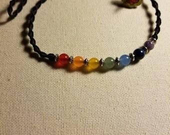 Chakra Stone Choker Macrame Necklace