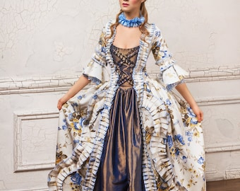 """Historical costume, made to order - """"Young Marie Antoinette"""" - An elegant dress in the style of the French royal court of the 18th Century."""