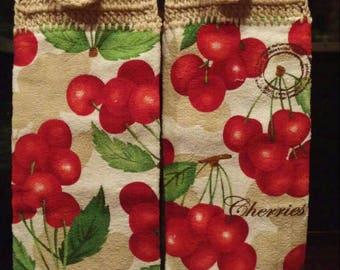 Cherries Hanging Dishtowel Set