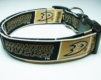 Anaheim Ducks Hockey Dog Collar