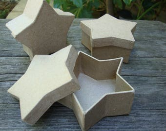 star gift boxes paper mache mini stars boxes party favors gift wrapping crafts supplies containers jewelry gift boxes paper crafting
