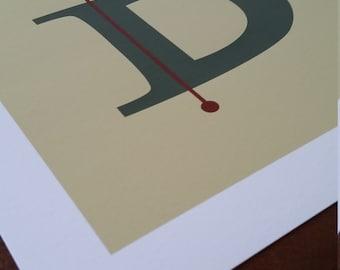 Letter D Archival Print