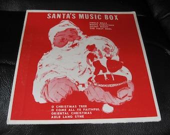 Vintage Santa's Music Box Record, 33 1/3 Record From 1956 in Santa Sleeve