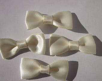 4 satin - stitched - approximately 34 mm (A258) fabric bow