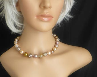 Natural Colour Pearls with Gold Hues