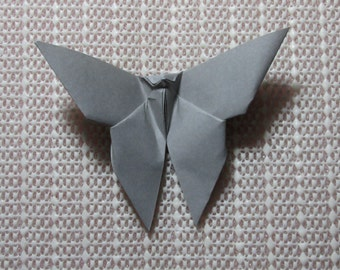 100 Paper Origami Butterflies_Gray (I 15), 4  x 4 inches (10 x 10 cm) only for  8.00 USD