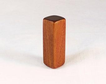 """Lamp Shade Finial Wood Lamp Finial Mahogany Squares Pattern 1, 2.25"""" tall x .75"""" square"""