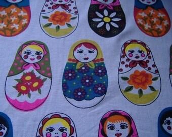 Russian Nesting Doll Matroyshka Fabric By The Yard.