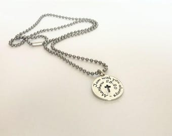 First Communion Gift for Boy - Boy First Communion - First Communion Necklace - Confirmation Necklace - First Communion Gift -  Bible Verse