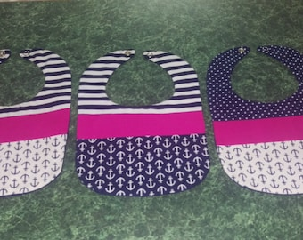 Ahoy There Nautical Bibs