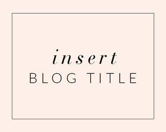 Insert Blog Title into Blogger or Wordpress Theme Header