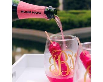 Custom Wine Glass // Wedding // Bachelorette // Engagement