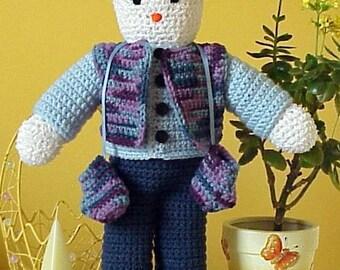 CROCHET PATTERN Easy Amigurumi Doll Snowman Frosty