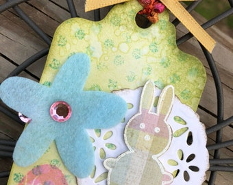 Set of Five Easter bunny cards for this spring