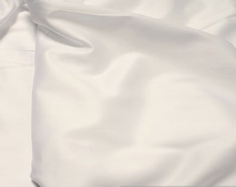 Fabric pure cotton satin white excess wide 300 cm wide mercerized