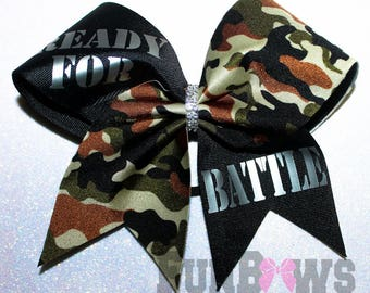 Ready for Battle !  Allstar Cheer Bow by FunBows !