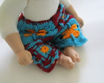 UGLY BOARD SHORTS, crochet your very own baby board shorts in a jiffy, 3 to 6 months, easy epattern