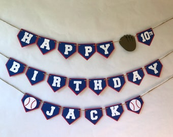 Baseball Birthday Banner - baseball party - homerun party - birthday banner - party supplies