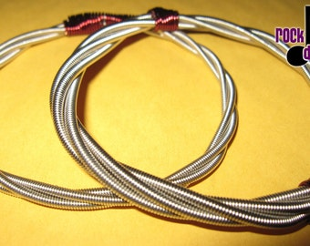 Bracelet, bass string, bangle - chunky - Repurposed, upcycled, creative reuse, recycled, humboldt made