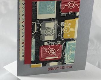 Snappy Birthday, camera, stampin up, card