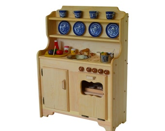 Child's Waldorf Kitchen- Montesori -Wooden Play Kitchen-Wooden Toy Kitchen- Play Kitchen- Pretend Kitchen-toy stove-wooden kids stove-