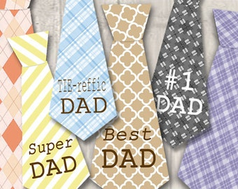Digital Fathers Day Tag, Father's Day Gift Tag, Craft Supplies, Cards for Dad, Digital Collages, Fathers Day Tie, scrapbooking supplies, diy