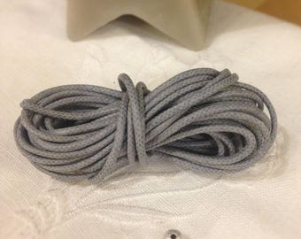 Silver gray waxed cotton cord