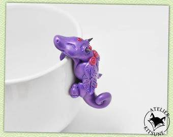 Dragothe - Purple Dragon tea bag clip