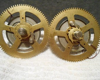 One (1) spring gears from a grandfather clock