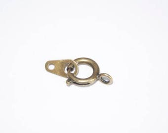 Bronze 8mm spring ring clasp
