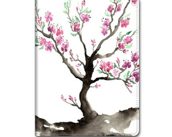 Floral Cherry Tree iPad Hard or Folio Case - Sakura Art - Designer Device Cover