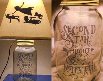 Peter Pan Inspired Silhouette Mason Jar Lamp