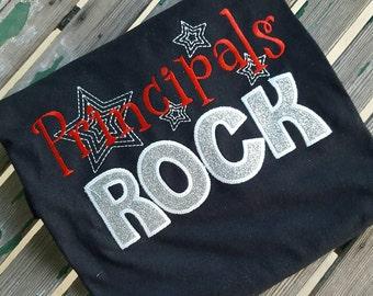 Principals Rock shirt School Staff shirt Principal gift
