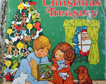 Vintage Children's Book My Christmas Treasury  Little Golden Book Christmas Book Collector's Book