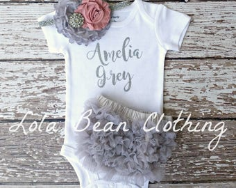 Baby Girl Coming Home Outfit | Baby Girl Take Home Outfit | Baby Girl Clothes | Customized Baby Outfit | lolabeanclothing | Baby Girl Outfit