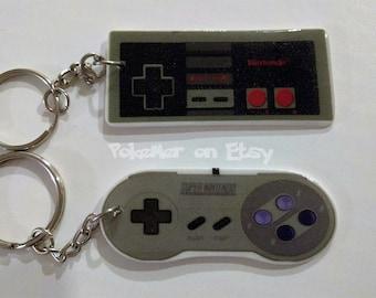 Nintendo NES or SNES (Super Nintendo) Controller Keychains