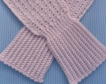 Pleats and Lace Scarf Crochet PATTERN - INSTANT DOWNLOAD
