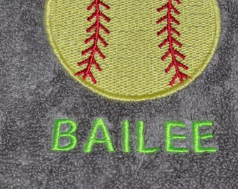 Exercise and Sports towels for your favorite athlete custom made with your sport and your name or your own motto