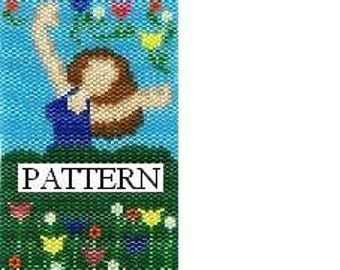 May Flower Goddess pattern, amulet, peyote