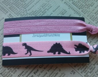 Dinosaur Elastic Hair Ties, party favors, stocking stuffers