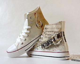 Clarinet, Sheet Music, Custom Made Shoes