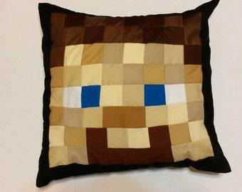 "Steve Minecraft Inspired Pillow (20""x20"")"