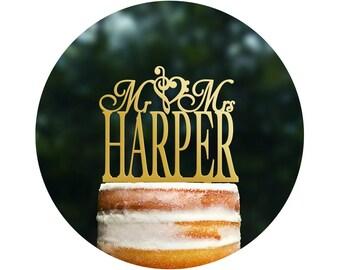 Music Topper Custom Cake Topper Acrylic Cake Topper Wedding Cake Decoration Wedding Cake Surname Topper Bridal Shower Bridal Gift - (T036)