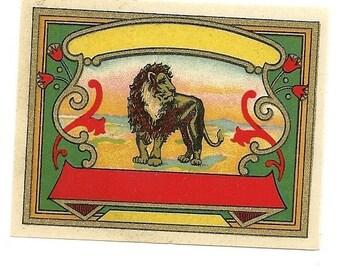 Lion Vintage Dye Label, 1890's