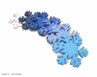 Nordic Snowflake Die Cuts, Large Snowflakes, Shades of Blue Snowflakes,Christmas Decorations,FROZEN Snowflakes,Winter Decorations,Snowflakes