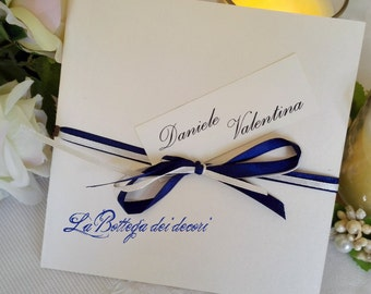 Participating wedding ivory and blue