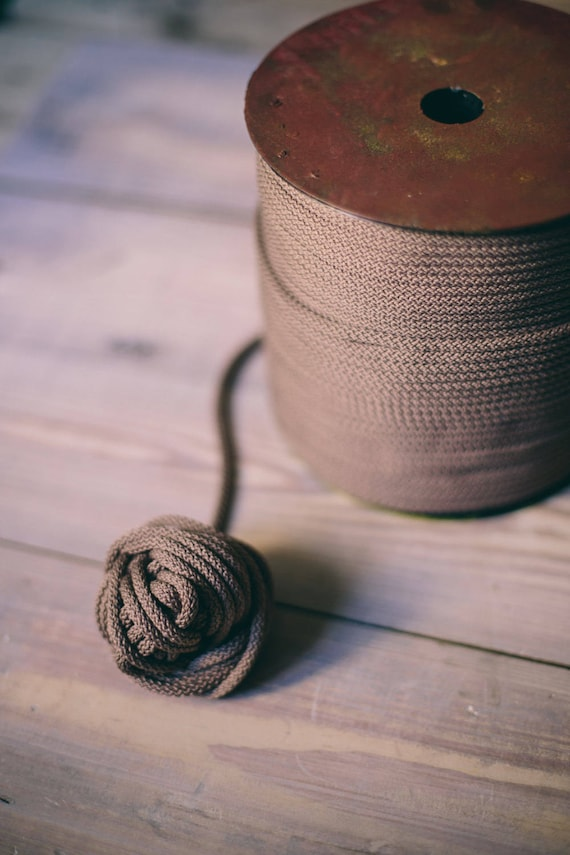 Coconut polyester rope- craft projects- knitting supplies- macrame cord- crochet rope- DIY projects- DIY supplies- rope cord, 200 meters #37